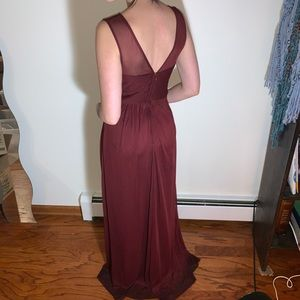 Chiffon Roman style bridesmaid dress